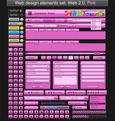 web design elements pink vector image vector image