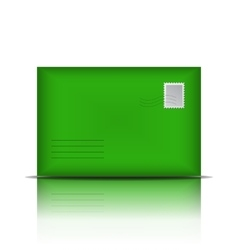 Green envelope isolated on white background vector image