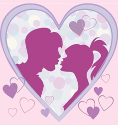 postcard to the valentines day vector image vector image