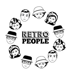 retro people vector image