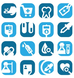 color medical icons set vector image vector image