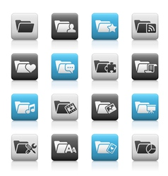 Folder Icons 2 Matte Series vector image
