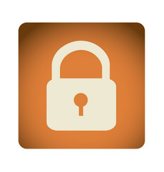 orange emblem lock icon vector image