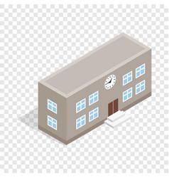 school building isometric icon vector image vector image