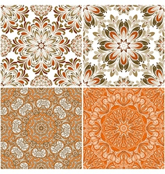 set of round seamless patterns vector image
