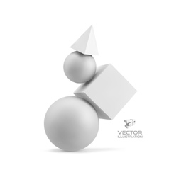 3d geometrical composition Abstract vector