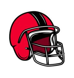 american football helmet design element for logo vector image