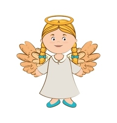 Angel heaven halo icon vector