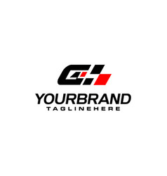 Auto speed letter g with race element logo vector