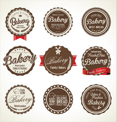 Bakery retro badge collection vector