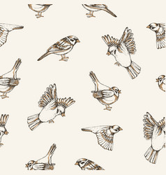 Beautiful seamless pattern with flying and sitting vector