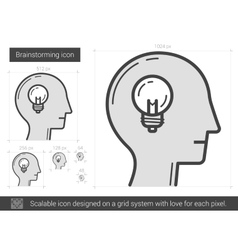 Brainstorming line icon vector