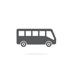 bus icon on white background vector image