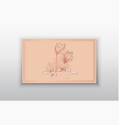 business card templates with pink gold vector image