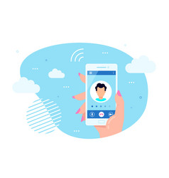 calling service concept flat design vector image