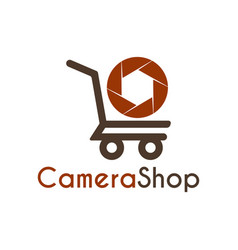 camera shop logo icon symbols and app icon vector image