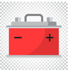car battery flat icon on isolated background auto vector image
