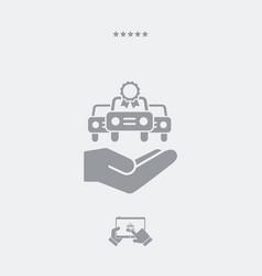 Car certificate concept - minimal icon vector