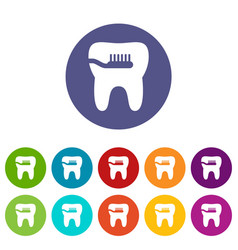 cleaning tooth icon simple style vector image