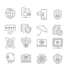 computer technology and digital networks security vector image