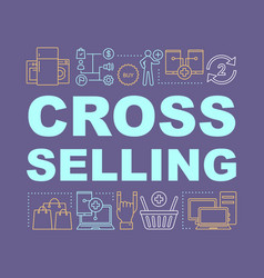 Cross-selling word concepts banner vector