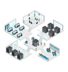 Datacenter isometric multistore composition vector