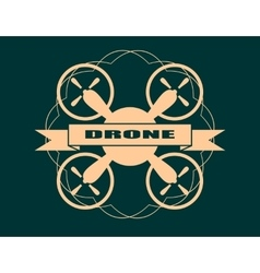 Drone quadrocopter icon Drone text vector image