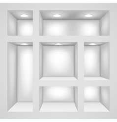 Empty shelves vector image