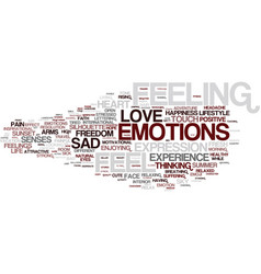 Feeling word cloud concept vector