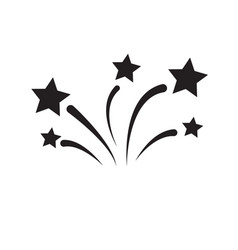 firework icon on white background flat a firework vector image
