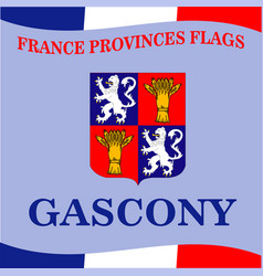 Flag of french province gascony vector