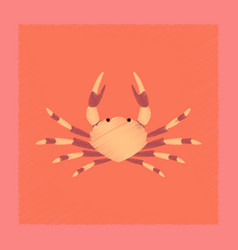 flat shading style animal crab vector image