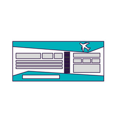 flight ticket symbol vector image