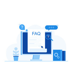frequently asked questions faq banner vector image
