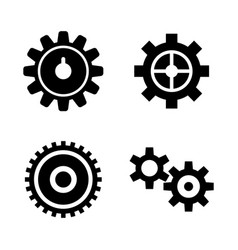 gear cogwheel mechanism simple related vector image