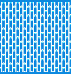 geometric seamless pattern with arrows vector image