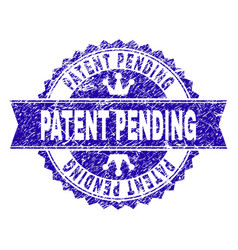 Grunge textured patent pending stamp seal with vector