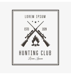 Hunting club vector