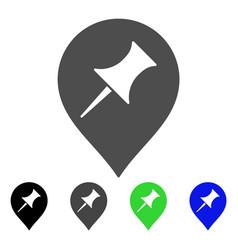 Interest pin marker flat icon vector