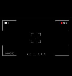 Interface viewfinder digital camera vector