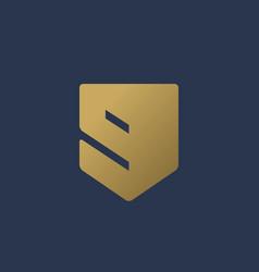 Letter g number 9 shield logo icon design vector