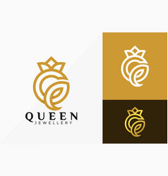 Letter q queen crown luxury logo design abstract vector