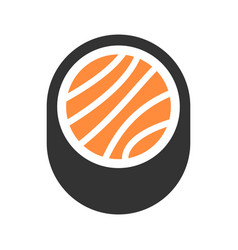 logo sign sushi fish with rice symbol vector image