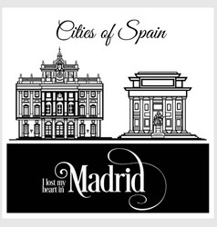 madrid - city in spain detailed architecture vector image