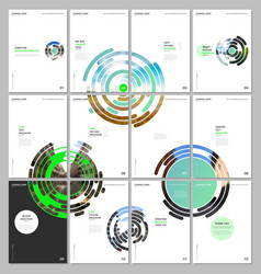 minimal brochure templates with green colorful vector image