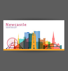 Newcastle colorful architecture vector