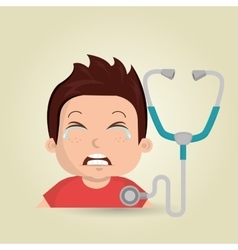 nurse tooth sick pain vector image