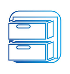Office cabinet drawers archive document vector