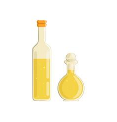 Olive oil and vinegar bottles vector