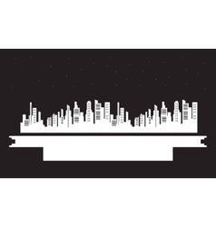 On black backgrounds city silhouettes vector
